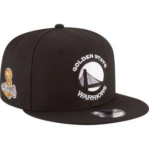 New Era Men's 2017 NBA Champions Golden State Warriors 9Fifty Black Adjustable Snapback Hat| DICK'S Sporting Goods