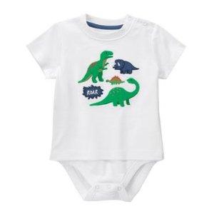 Baby White Roar Bodysuit by Gymboree
