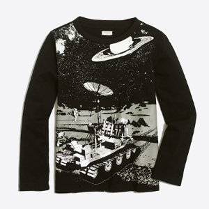 Boys' glow in the dark moon rover storybook T-shirt : storybook t-shirts | J.Crew Factory