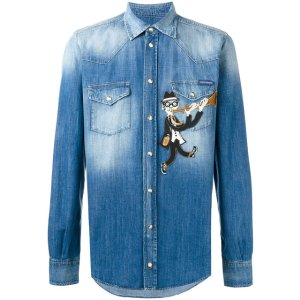 Dolce & Gabbana Flautist Patch Denim Shirt - Farfetch