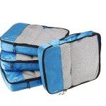 AmazonBasics 旅行整理袋4件套 -蓝色