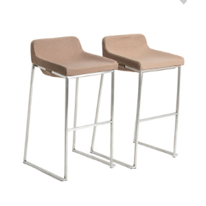 Set Of 2 Stainless Steel Barstools