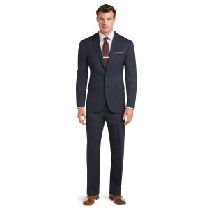 Traveler Slim Fit 2-Button Wool Suit with Plain Front Trousers CLEARANCE - Deal of the Day   Jos A Bank