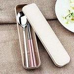 K-Steel 2PCS Portable Flatware Spoon Chopsticks Tableware Set