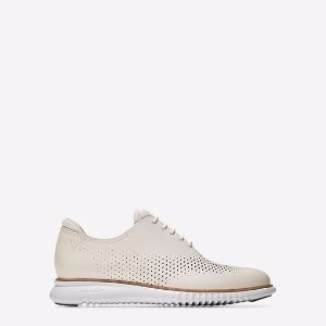 2.ZEROGRAND Laser Wingtip Oxfords in Ivory-White | Cole Haan