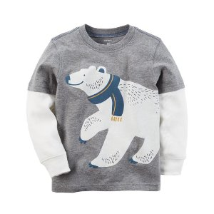 Polar Bear Layered-Look Tee