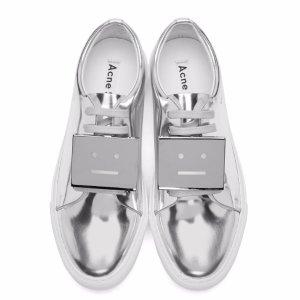 Acne Studios Silver Metallic Adriana Sneakers