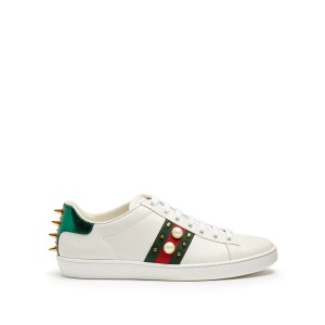 New Ace stud-embroidered leather trainers | Gucci