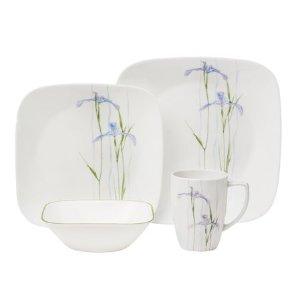 Corelle® Square™ Shadow Iris 16-Pc Dinnerware Set