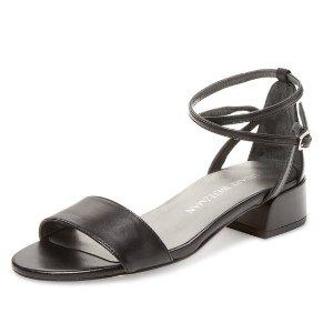 Stuart Weitzman Peewee Two-Piece Leather Sandal