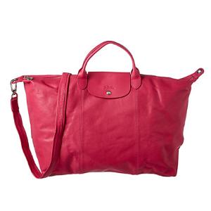 Longchamp Le Pliage Cuir Large Leather Travel Bag