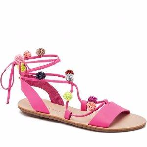 Loeffler Randall   Saskia Ankle Wrap Sandal in Ultra Pink   Loeffler Randall