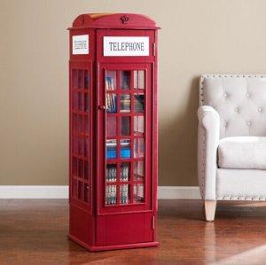 $144.99 (原价$249.99)闪购,Harper Blvd 红色电话亭 多用柜