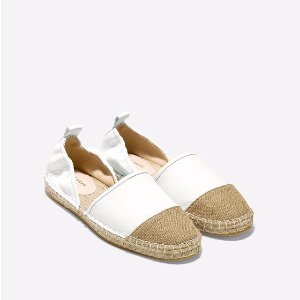 Women's Marli Espadrilles in Optic White Leather | Cole Haan