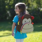 Skip Hop Zoo Toddler Kids Backpack, Monkey, Boy, Brown, 12-inches