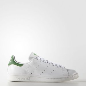 adidas Originals Women's Stan Smith Leather White/Green Comfort Shoe | eBay