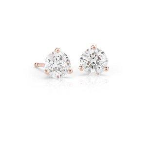 Diamond Stud Earrings in 14k Rose Gold (1 ct. tw.) | Blue Nile