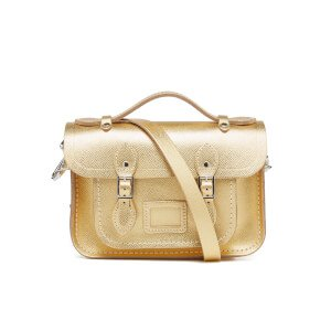 The Cambridge Satchel Company Women's Mini Satchel - Gold Saffiano