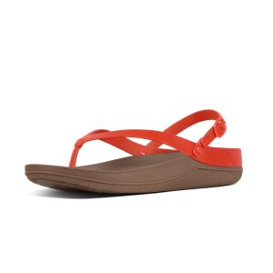 FitFlop Flip Leather Back-Strap Sandals Flame FitFlop Official Online Store