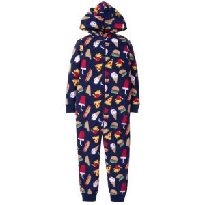 food hooded pajama 1-piece