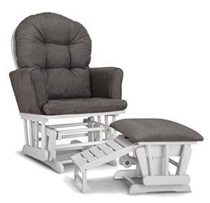 $115.90Graco Parker Semi-Upholstered Glider and Nursing Ottoman, White/Gray