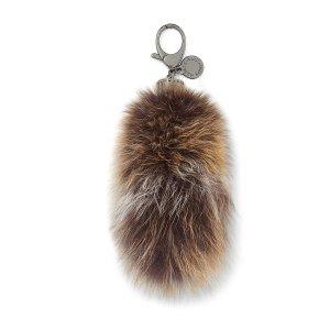 Fox Tail Bag Charm | Designer Real Fur Keychain | Rebecca Minkoff