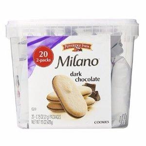 $5.75 Pepperidge Farm Milano Cookie Tub, 20 2pks, 15 Ounce