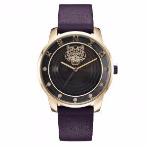 Kenzo Black Sequined Leather Watch   Unineed   Premium Beauty & Fashion