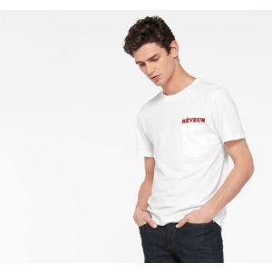 REVEUR FLOCKED T-SHIRT