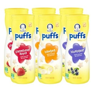 $7Gerber Graduates Puffs Cereal Snack, Assorted Flavors, 1.48 Ounce, 6 Count