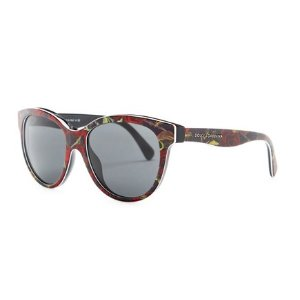Dolce & Gabbana Unisex Matt Silk Cat Eye Acetate Frame Sunglasses