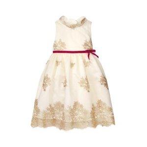 Metallic Lace Dress