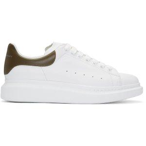 Alexander McQueen: White Oversized Sneakers