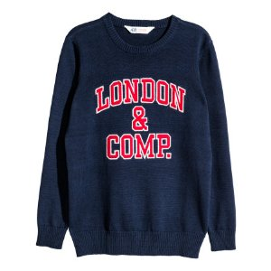 Knit Sweater | Dark blue/London | Kids | H&M US