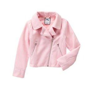 Girls Petal Pink Moto Jacket by Gymboree