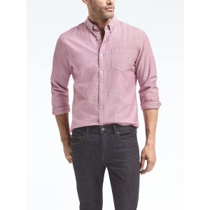 Grant-Fit Cotton-Stretch Oxford Shirt
