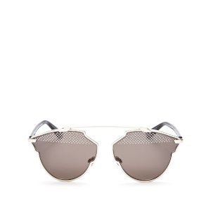 Dior Studded So Real Mirrored Round Sunglasses, 59mm | Bloomingdale's