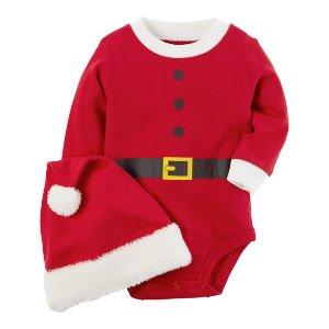 2-Piece Santa Bodysuit & Hat Set