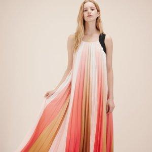 RUNINA Long multicoloured pleated dress - Dresses - Maje.com