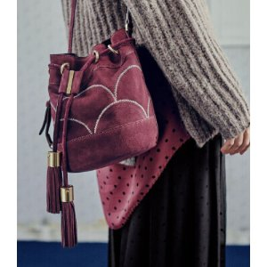 See by Chloe- Vicki Patchwork Suede Small Bucket Bag - saks.com