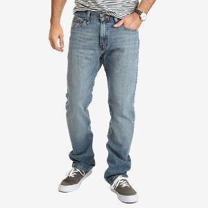 Straight Fit Crosshatch Jean