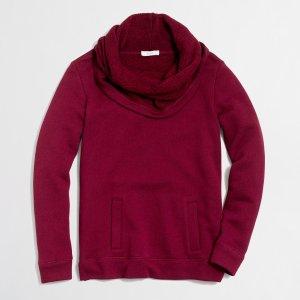Petite funnelneck sweatshirt : Knits & T-Shirts | J.Crew Factory