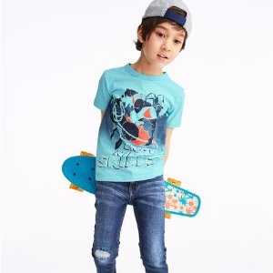 Short-sleeve Graphic Tees $4, Jeans Buy 1 Get 2 FreeKids Apparel One Day Doorbuster @ OshKosh BGosh
