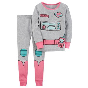 2-Piece Astronaut Snug Fit Cotton PJs