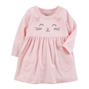 Carter's Infant Girls' Dress - Cat - Clothing - Baby Clothing - Baby Dresswear