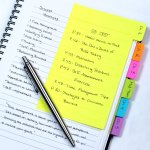 Redi-Tag Divider Sticky Notes 60 Ruled Notes