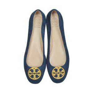 Tory Burch Chelsea Royal Navy Suede Ballet Flats