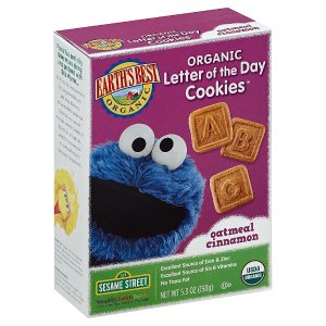 Earth's Best Sesame Street Organic Letter of the Day Cookies™ Oatmeal Cinnamon -- 5.3 oz - Vitacost