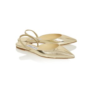 Genoa snake-effect leather point-toe flats | Jimmy Choo