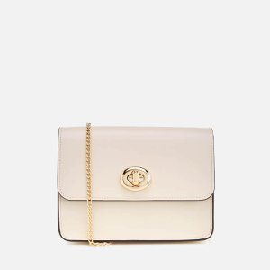 Coach Women's Turnlock Chain Cross Body Bag - Chalk - Free UK Delivery over £50